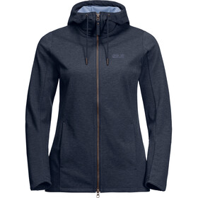 Jack Wolfskin Riverland Hooded Jacket Damen midnight blue